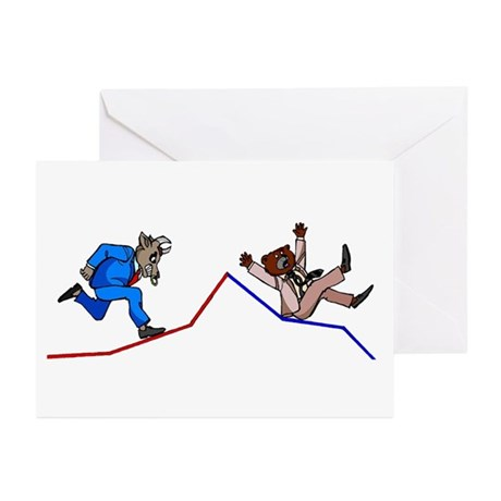 Stock Chart Greeting Cards (Pk of 10)