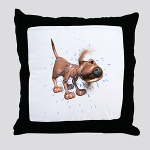 Funny Shaking Wet Dog Throw Pillow