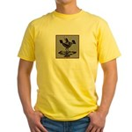 Mimbres Q Red Outline Yellow T-Shirt