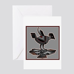Mimbres Q Red Outline Greeting Card