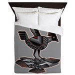 Mimbres Q Red Outline Queen Duvet