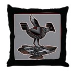Mimbres Q Red Outline Throw Pillow
