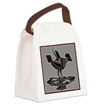 Mimbres Q Red Outline Canvas Lunch Bag