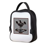 Mimbres Q Red Outline Neoprene Lunch Bag