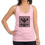 Mimbres Q Red Outline Racerback Tank Top