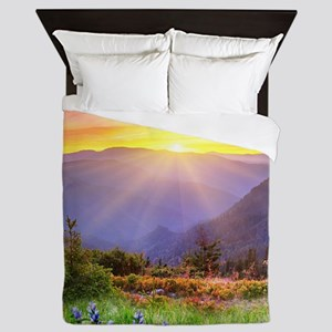 Majestic Sunset Queen Duvet