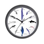 12 Dolphins and Whales Clock Wall Clock