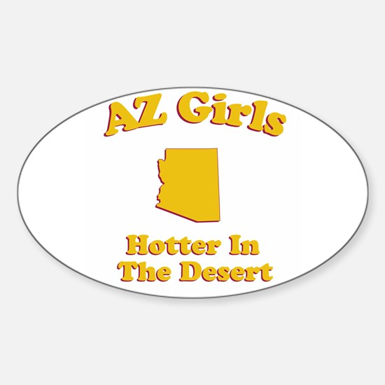 AZ Girls Oval Decal