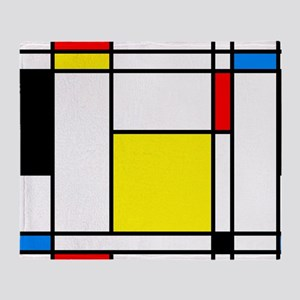 Mondrian Lines Throw Blanket
