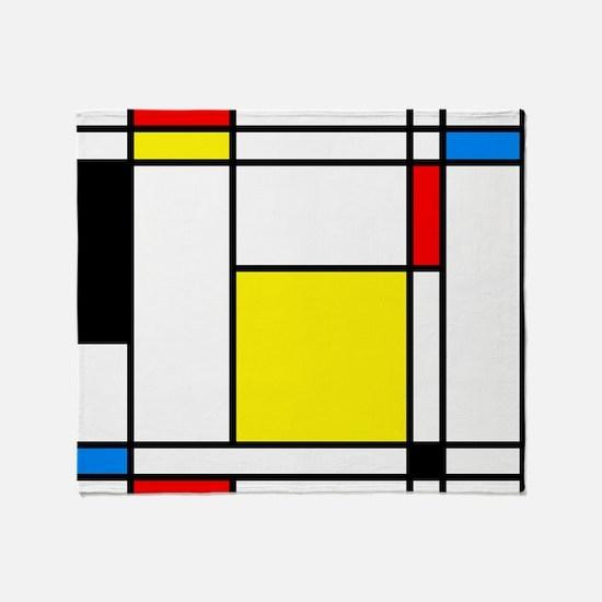 Mondrian Lines Throw Blanket