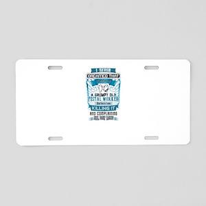 Postal Worker Job Aluminum License Plate