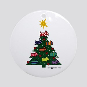 SCOTTISH TERRIER CHRISTMAS TREE Ornament (Round)