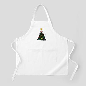 SCOTTISH TERRIER CHRISTMAS TREE BBQ Apron