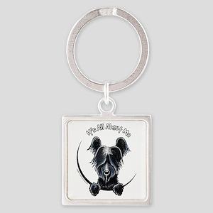 Skye Terrier IAAM Square Keychain