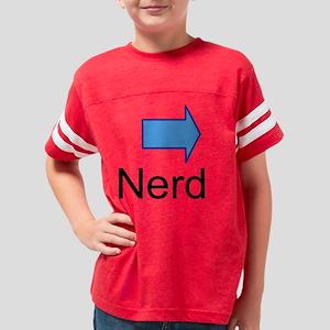 nerd, black, larger, arrow le Youth Football Shirt