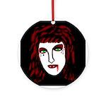 Dark Vampire Ornament (Round)