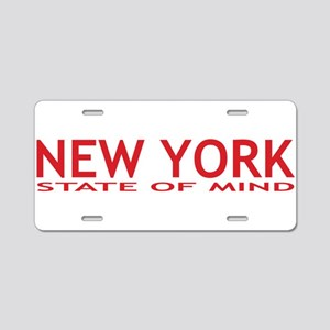new york state of mind red Aluminum License Plate