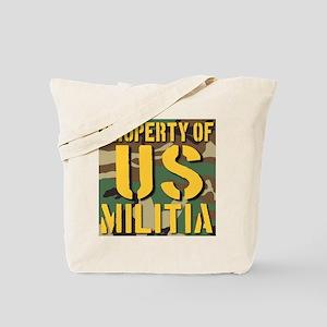 Property of US Militia Tote Bag