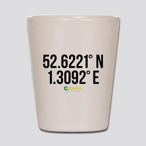 Norwich Canaries Coordinates Shot Glass