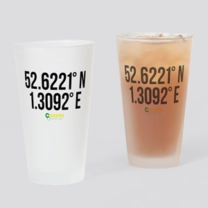Norwich Canaries Coordinates Drinking Glass