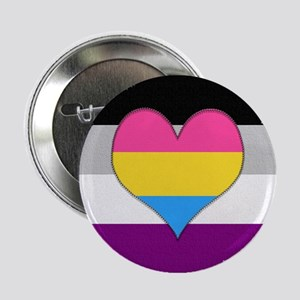 "Panromantic Asexual Heart 2.25"" Button"