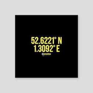 "Norwich Canaries Coordinate Square Sticker 3"" x 3"""