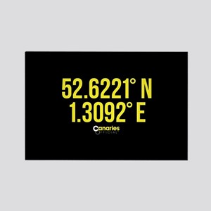 Norwich Canaries Coordinates Rectangle Magnet