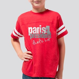 2-paris for president white Youth Football Shirt