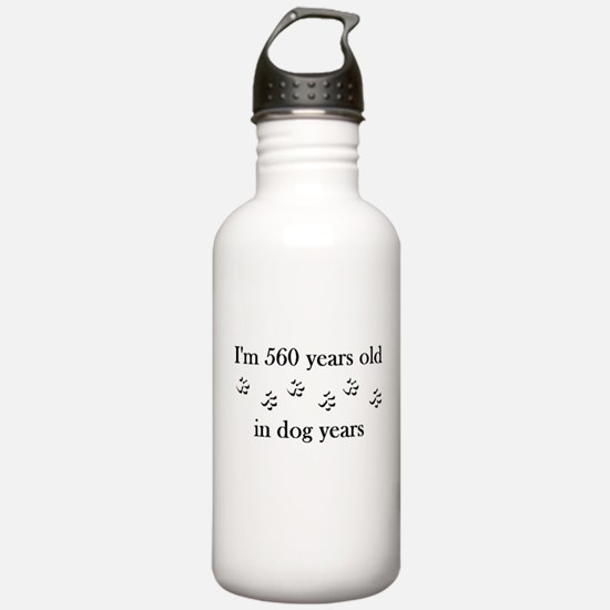80 birthday dog years 4-1 Water Bottle