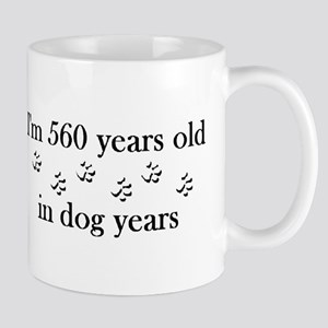 80 birthday dog years 4-2 Mug