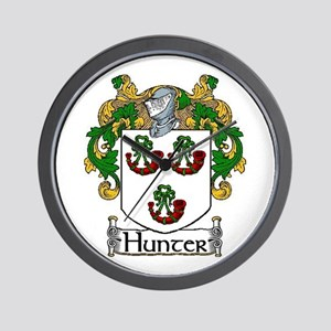 Hunter Coat of Arms Wall Clock