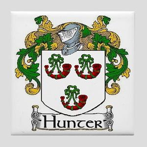 Hunter Coat of Arms Tile Coaster