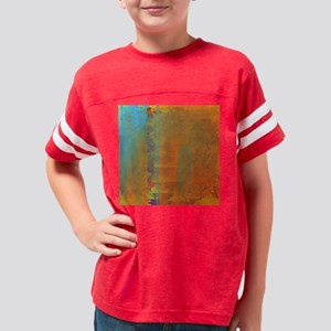 Abstract in Aqua, Copper and  Youth Football Shirt
