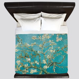 Van Gogh Almond tree flowers - Blue King Duvet