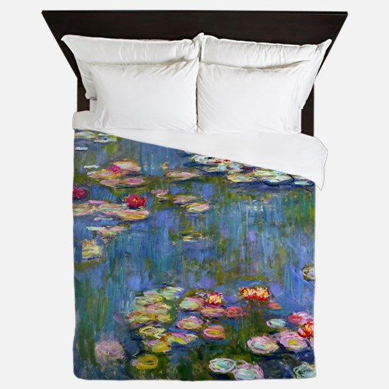 Water Lilies 1916 by Claude Monet Queen Duvet