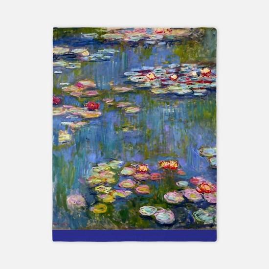 Water Lilies 1916 by Claude Monet Twin Duvet