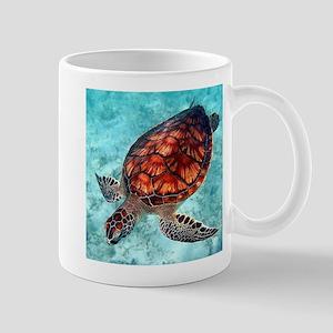 Sea Turtle swimming Mugs