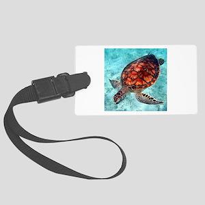 Sea Turtle swimming Luggage Tag