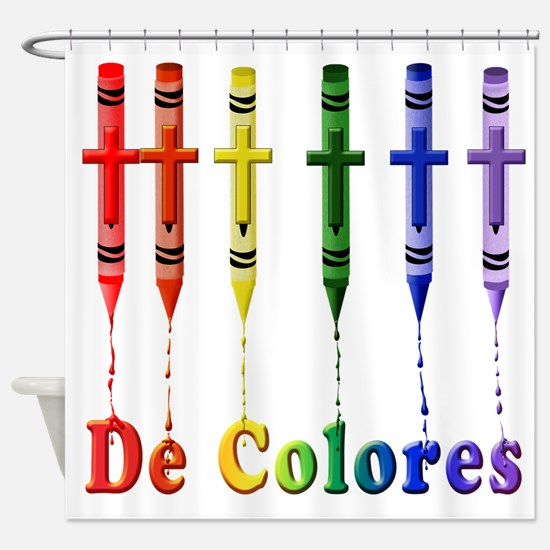 Crayons DeColores Shower Curtain
