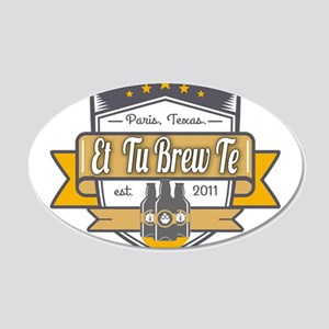 Et Tu Brew Te Logo Wall Decal