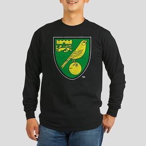 Norwich Canaries Crest Long Sleeve Dark T-Shirt