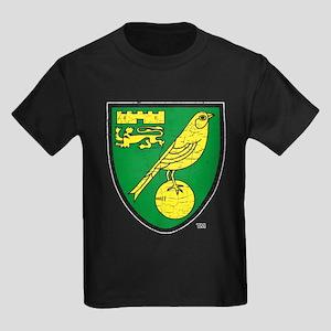 Norwich Canaries Crest Kids Dark T-Shirt