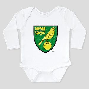 Norwich Canaries Crest Long Sleeve Infant Bodysuit