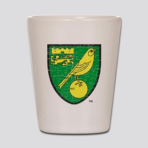 Norwich Canaries Crest Shot Glass