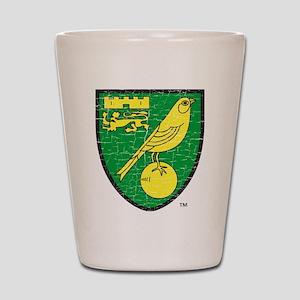 Norwich Canaries Crest Shot Glass