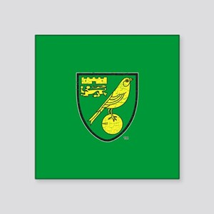 "Norwich Canaries Crest Square Sticker 3"" x 3"""