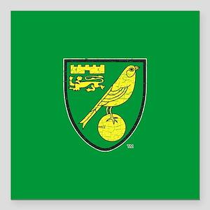 "Norwich Canaries Crest Square Car Magnet 3"" x 3"""