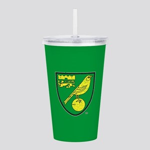 Norwich Canaries Crest Acrylic Double-wall Tumbler