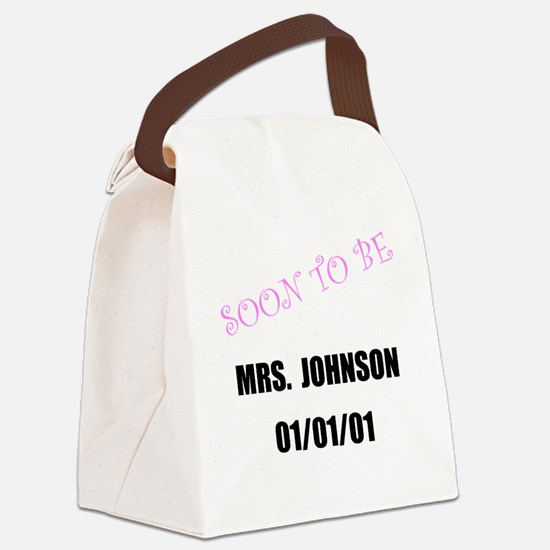 Soon To Be Personalize It! Canvas Lunch Bag