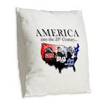 21st Century America Burlap Throw Pillow